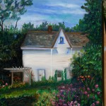 ARTIST'S COTTAGE AT ASHBURY, CANADA, LINDA WOOLVEN, OIL PAINTING, ONTARIO