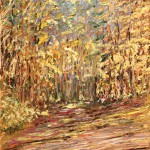 AURORA, AUTUMN, CANADA, CANADIAN, FALL, GOLDEN FALL, LANDSCAPE, LINDA WOOLVEN, OIL ON CANVAS, OIL PAINTING, ONTARIO, TREES