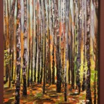 DARK WOODS, LANDSCAPE, LINDA WOOLVEN, NORTHERN ONTARIO, OIL PAINTING, ONTARIO