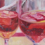 DRINKS, LINDA WOOLVEN, OIL PAINTING, VENICE