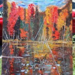 AUTUMN, GOLDEN FALL, LANDSCAPE, LINDA WOOLVEN, NORTHERN ONTARIO, OIL PAINTING, ONTARIO