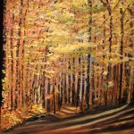 CANADA, CANADIAN, GOLDEN FALL, LANDSCAPE, LINDA WOOLVEN, NORTHERN ONTARIO, OIL PAINTING, ONTARIO