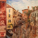 ITALY, LINDA WOOLVEN, LOST IN VENICE, OIL PAINTING, VENICE