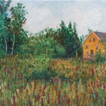 CANADA, LANDSCAPE, LINDA WOOLVEN, OIL PAINTING, OLD HOUSE IN FIELD, ONTARIO