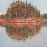 LANDSCAPE, LINDA WOOLVEN, NORTHERN ONTARIO, OIL PAINTING, ONTARIO, PARRY SOUND, PARRY SOUND REFLECTIONS