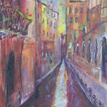 Venice Canal with Balcony, Oil on Canvas 16x20