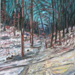 CANADIAN, LANDSCAPE, LINDA WOOLVEN, OIL PAINTING, ONTARIO, WINTER WOODS