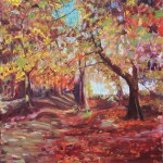 Yellow Woods, Landscape Painting